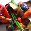 ほうれい線を薄くする!アンチエイジング効果が有る鮭と彩り夏野菜のレモンバター醤油焼き