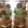 自宅で簡単発酵!梅シロップジュースのレシピ、作り方を紹介する